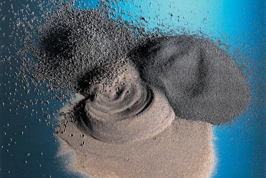Different grades of MinSand foundry sand