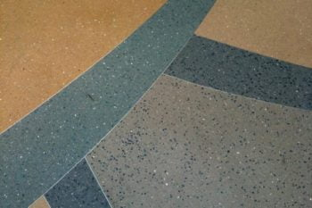 Decorative concrete made with DekorFlake