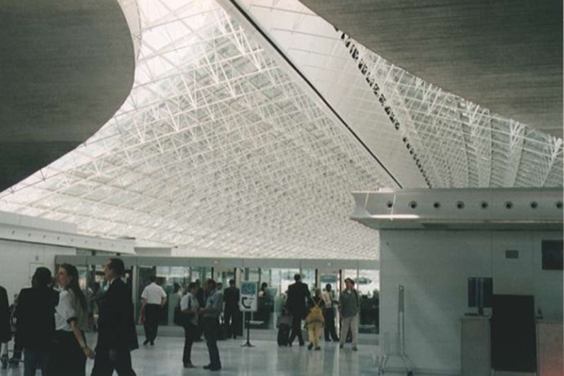 Sprayable concrete - Charles de Gaulle airport Paris