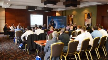 Darren Wilson presenting at technical seminar