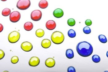 colourful paint drops