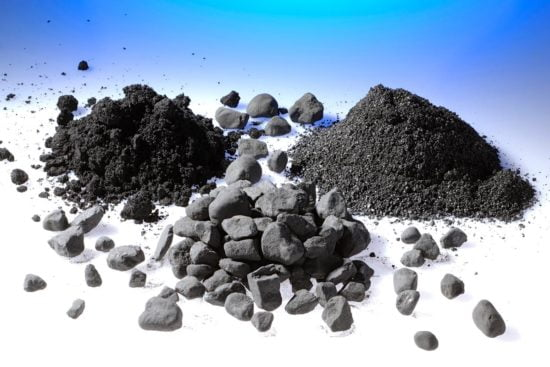 Magnetite in different grades