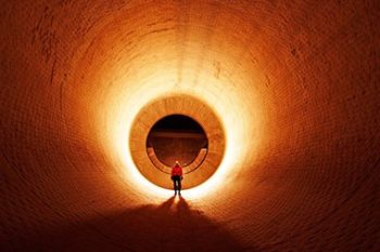 Refractory - Man standing in large kiln
