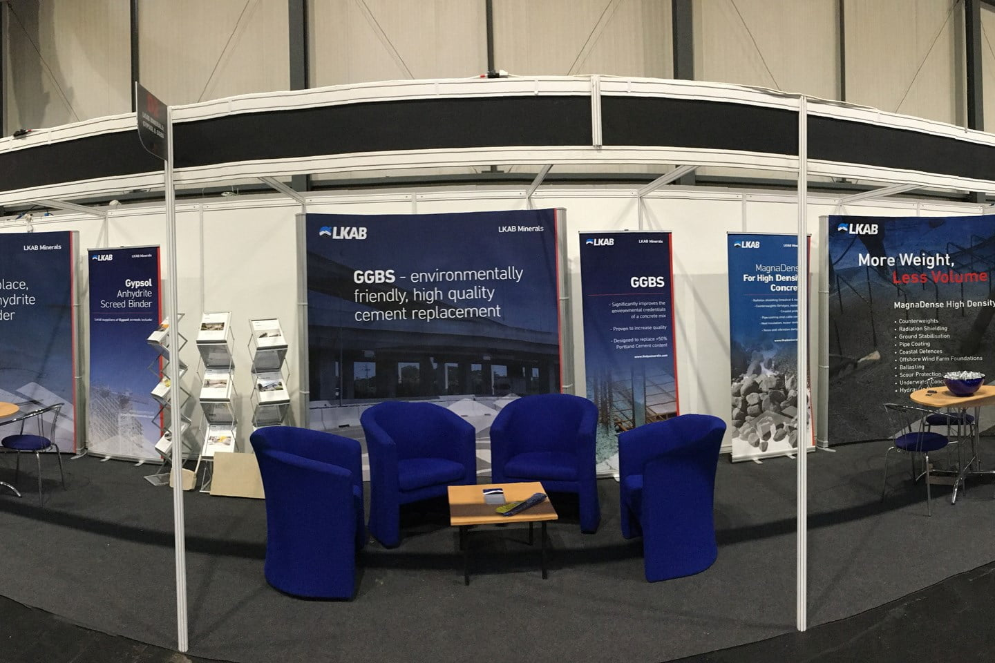 Empty stand at UK Concrete Show
