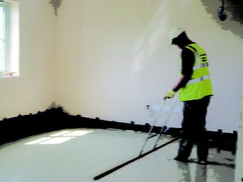 Gypsol screed installation image 1